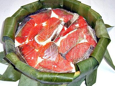 紅鮭飯寿司(紅ジャケいずし)加工地小樽 2キロ樽入【送料無料】