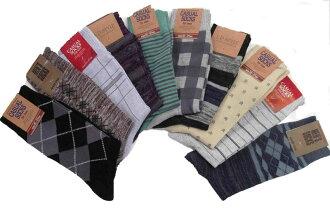 襪子 10 英尺日元 pokkiri (含稅) 男裝休閒模式男士襪子一起買你新的一年 ¥ 1,000 他們