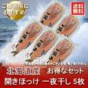 【送料無料 北海道 ほっけ 開きホッケ 干物】 北海道 道東産 真ホッケ送料無料 5枚セット