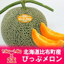 「北海道 メロン ギフト」 北海道メロン 赤肉メロン ぴっぷメロン 2玉 1.3kg〜1.4kg