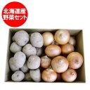 じゃがいも 男爵いも 送料無料 玉ねぎ 野菜セット 価格 2480 円 北海道産 男爵いも たまねぎ 5kg(各2.5kg)Lサイズ