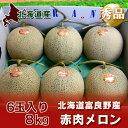 【北海道 メロン 富良野メロン 赤肉】 北海道産の富良野メロン 赤肉 【秀品】 6玉入