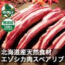 【北海道産】エゾシカ肉/鹿肉/シカ肉/ジビエ 骨付きスペアリ...