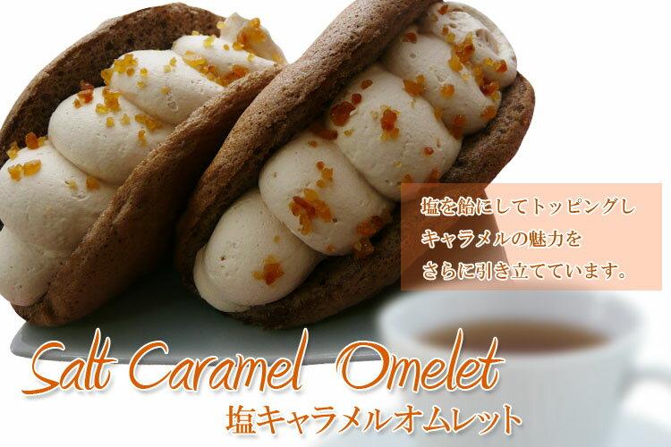 ネット限定販売飴状の塩とキャラメルの最高の相性塩キャラメルオムレット洋菓子6個入り