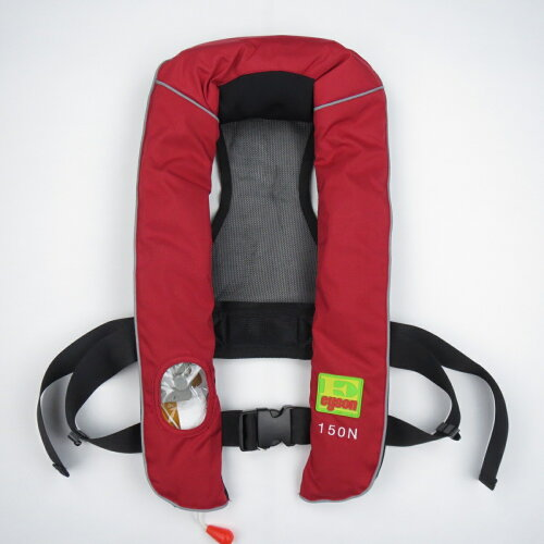 ライフジャケット自動膨張式ライフベストインフレータブルベストタイプ救命胴衣フリーサイズ