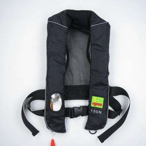ライフジャケット自動膨張式ライフベストCE認証品インフレータブルベストタイプ救命胴衣フリーサイズ