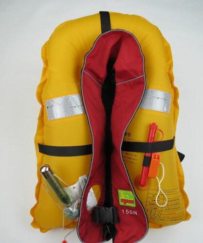 ライフジャケット手動膨張式ライフベストCE認証品インフレータブルベストタイプ救命胴衣フリーサイズ