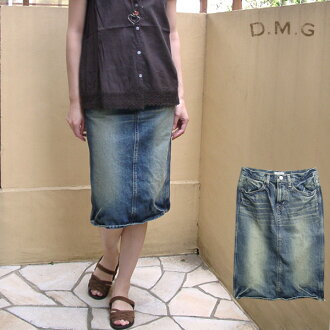 D.M.G Domingo 4 P knee-length denim skirt-length (62 cm) 17-159 A 27-9