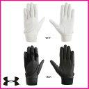 【ネーム刺繍無料】●アンダーアーマー 守備用手袋 UAステルスアンダーグローブIV(左手用)  EBB2229【送料無料】【高校野球対応】