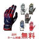 【ネーム刺繍無料】●ミズノ(mizuno) 少年用バッティング手袋 セレクトナイン 両手用 1EJE