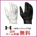 【ネーム刺繍無料】アンダーアーマー 一般用バッティング手袋 両手用 クリーンアップVIステルスグローブ 1295583【送料無料/ベースボール/グローブ/MEN/高校野球対応】