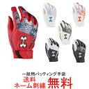 【ネーム刺繍無料】アンダーアーマー 一般用バッティング手袋 両手用 クリーンアッ