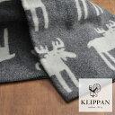 【北欧のふんわり・あったかブランケット】 クリッパン ハーフブランケット ムース(240402)<グレー> 【 KLIPPAN ひざ掛け 】
