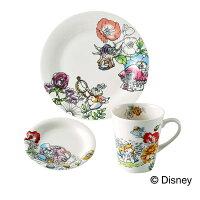 【10月30日まで店内全品ポイント10倍!】Disney ディズニー ふしぎの国のアリス モーニングセット( D-AL01 ) 【 前畑 Alice ケーキプレート 小皿 マグカップ 化粧箱入り 】