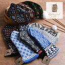 《 1点までメール便送料無料 》 【完成品】 ラトビアの手編みミトン Hobbywool 選べる10柄 《 ホビーウール 手袋 毛糸 》