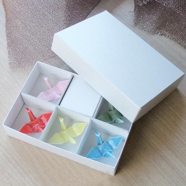 5から6個入り 箸置き用ギフト箱 包装紙の色選び...の商品画像
