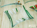 手作りビードロガラスプレート(長方形)S トクサ 13×11cm ..- 【HLS_DU】 業務用食器