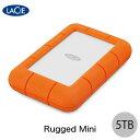 Lacie 5TB Rugged Mini USB 3.0対応 耐衝撃 外付けHDD (ポータブル) # STJJ5000400 ラシー (ハードディスク) [PSR]