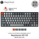 Keychron K2 V2 Mac英語配列 有線 / Bluetooth 5.1 ワイヤレス 両対応 テンキーレス Gateron 赤軸 84キー WHITE LEDライト メカニカルキーボード # K2/V2-84-WHT-Red-US キークロン (Bluetoothキーボード) [PSR]