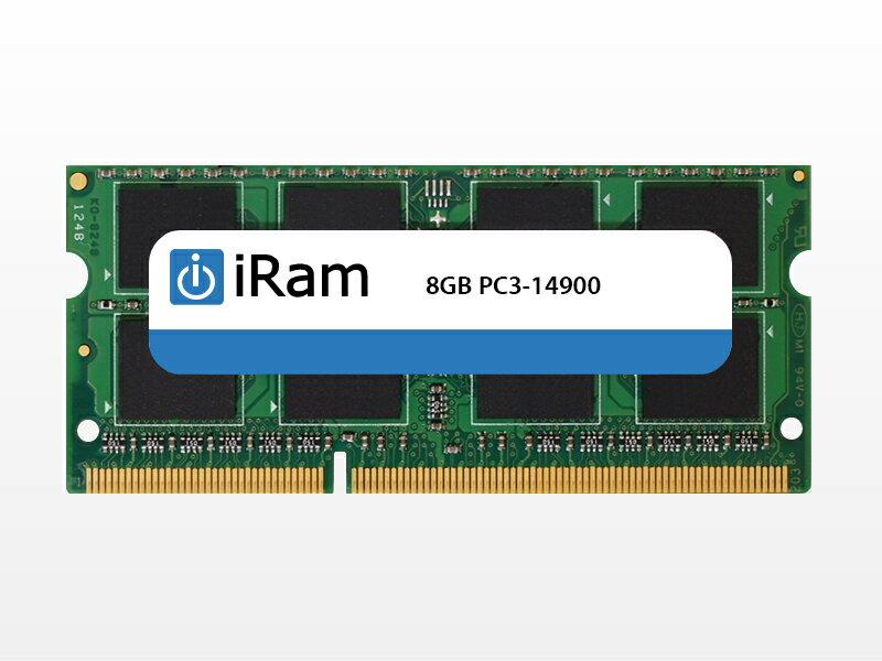 [あす楽対応] [ネコポス不可] iMac (Retina 5K, 27-inch, Late 2015) メモリー iRam PC3-14900 (DDR3-1866) SO.DIMM 8GB # IR8GSO1866D3 アイラム (Macメモリー) iMac メモリー 増設