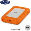 Lacie 1TB Rugged USB-C USB 3.1対応 耐衝撃 外付けHDD (ポータブル) 耐衝撃 HKVD2ZM/A # 2EUAP8 ラシー (パソコン周辺機器)