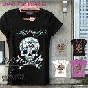 コラボTシャツ エドハーディー×サンリオ ハローキティー Ed Hardy×Sanrio Hello Kitty Tシャツ レディース スカル W02SK13S...