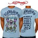 ショッピングhardy ed hardy エドハーディー メンズ Tシャツ スカル ライトブルー A9DBHHQE Edhardy エド・ハーディー
