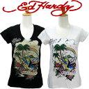 エドハーディー tシャツ レディース Ed Hardy TROPICAL RAINBOW トロピカル レインボー ラインストーン W02JSPC520 エドハーディ tshirt エド・ハーディー edhardy T-shirt タトゥー エドハ−ディ− Tシャツ