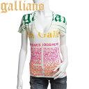 Galliano ガリアーノ レディース 半袖 Tシャツ YR6727 JohnGalliano ジョンガリアーノ フロッキー加工