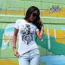 【メール便送料無料】 Sadistic action サディスティック アクション Tシャツ レディース ホワイト S