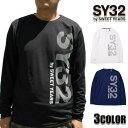 SY32 by SWEET YEARS ロングTシャツ メンズ ブラック ネイビー ホワイト S-XL 9031GE ボックスロゴ ロンT SWEET YEARS 32 VERTICAL DOT LOGO L/S TEE