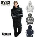 SY32 by SWEET YEARS パーカー メンズ ジップフーディー トップス IDE LINE SWEAT ZIP HOODIE 9114 ブラック/ネイビー/グレー M/L/XL
