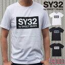 SY32 by SWEET YEARS Tシャツ メンズ ブラック ホワイト S-XL TNS1601 TSHIRT TEE トップス SWEET YEARS