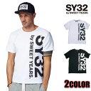 SY32 by SWEET YEARS Tシャツ メンズ エスワイサーティトゥバイスィートイヤーズ ブラック ホワイト TNS1603 TSHIRT TEE トップス SWEET YEARS エスワイサーティトゥバイスウィートイヤーズ