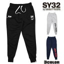 SY32 by SWEET YEARS スウェットパンツ メンズ sy32 スウェット TNS1714 SHIELD LOGO SWEAT PANTS スウェットパンツ 大きいサイズ イタリア サッカー
