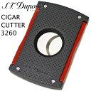 エス・テー・デュポン シガーカッター 3260 パンチ マットブラック レッド 20ミリ用 ブランド 葉巻カッター 葉巻 シガー