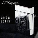 エス・テー・デュポン ライン8 ライター 25115 ブラゾン クロム装飾 フリントガスライター デュポンライター