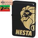 NESTA ネスタ オイルライター 2面ロゴ DXN-2LG マットブラック/ゴールド
