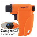 キャンパー 3 ターボライター W14-0002 オレンジ ウインドミル ガス注入式 バーナーフレームライター