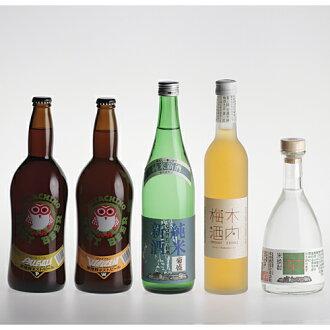 Fresh sake & hitachino & shochu kiuchi 25 & kiuchi plum 5 stick set-50