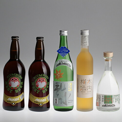 "Hitachi wild beer-pure, Ibaraki ""fall up"" tree plum shochu kiuchi 25 5 book set"