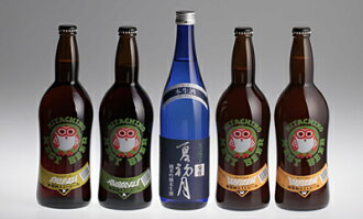 "720 ml of five height of Hitachi field nest beer & chrysanthemum purely U.S. brewing sake from the finest rice pure alcoholic drink ""in the summer first moon"" sets"