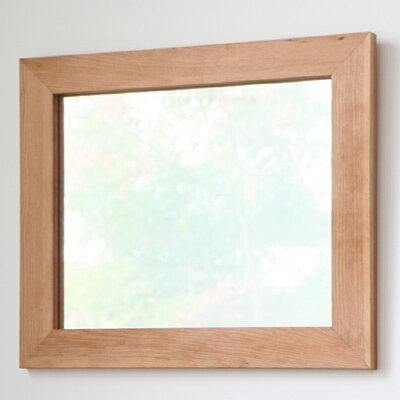 鏡 壁掛け おしゃれ アンティーク ミラー 木枠 木製 無垢材 天然木 北欧 無垢材を使用したシンプルで味わい深い木枠の鏡 ブラックチェリー材 Mサイズ ウォールミラー  完全日本製 受注製作品 ハンドメイド 木枠屋オリジナル