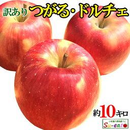 8月下旬発送 朝どれ つがる シナノドルチェ 訳あり りんご 減農薬 長野県産 10キロ おまけ付き レビューを書いたら200円クーポン