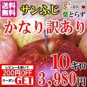 かなり訳あり! 長野産 サンふじ りんご 減農薬 10キロ...