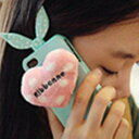 当日発送  i Phone4/4sケース アクセサリー  携帯カバー ウサギしっぽ付きケース   誕生日 可愛いケース