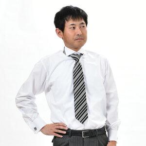 ワイドウィングカラーシャツ プリーツ ホワイト
