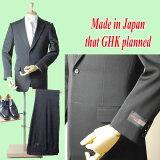 限定・日本製】*合服*ブラックスーツY体のみ(衿巾8.2cmの巾広い年代まで着用可能):シングル略礼服、喪服:2B×1:アジャスター付き:R16100サイズY4・Y5・Y6・Y7・