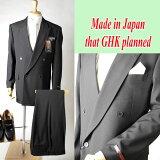 10P01Mar11【53%OFF】*合服*フォーマルブラックスーツ:ダブル略礼服、喪服:4B×1掛:MU1206