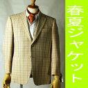 夏用 【サイズ:AB4・AB5】ベージュ色のシングル2Bジャケット :RMJ113 メンズ 紳士 サマー ジャケット